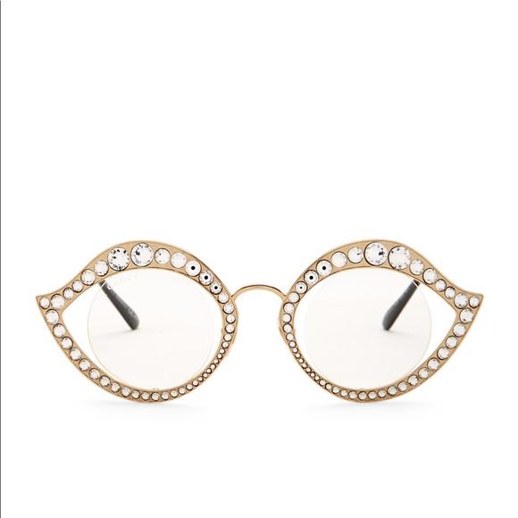 474d7cf118f Gucci GG4287 S Lips Cat Eye Crystals Sunglasses